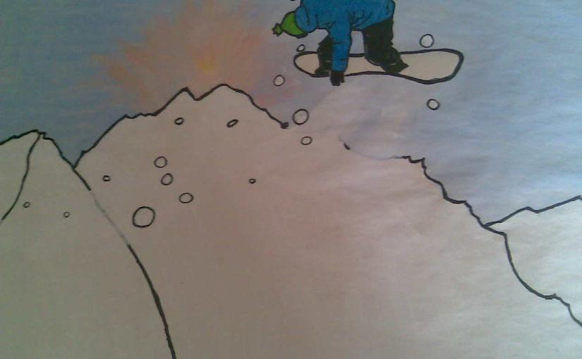 Old dessin Snowboard :)