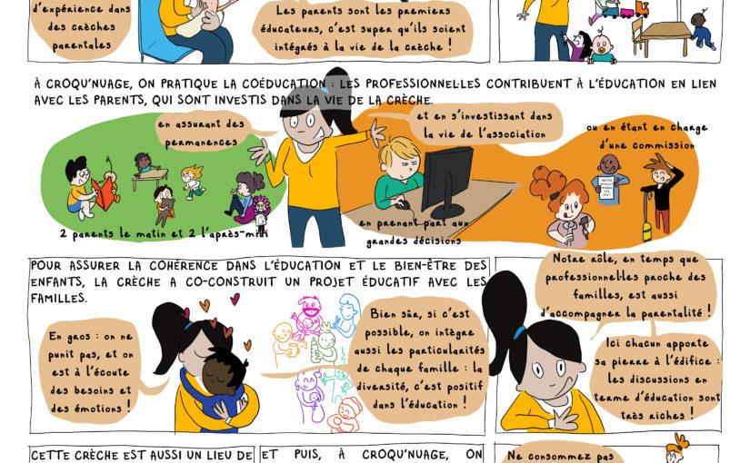 Crèche parentale Croqu'nuage [BD du magazine Agir à Lyon #Octobre19]