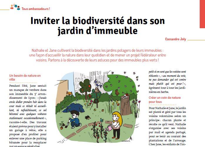 Inviter la biodiversité en ville ! Illustration #3 pour le défi Tous Ambassadeurs !