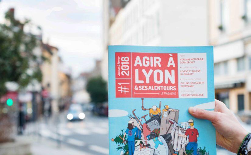 Une page de BD dans le magazine Agir à Lyon !